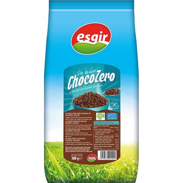 CEREALS CHOCO ZERO GLUTEN-FREE 300GR ESGIRCEREALS CHOCO ZERO GLUTEN-FREE ESGIR 300GR.