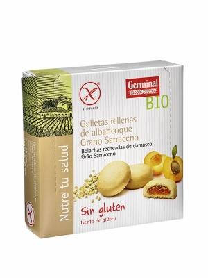 Galletad De Trigo Sarraceno Rellenas De Crema De Albaricoque Bio Sin Gluten Germinal 200 GR.