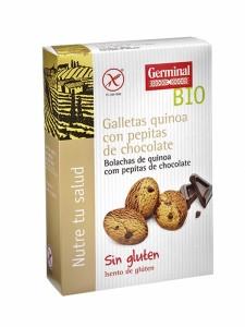 Galletas Quinoa Cacao Pepitas Chocolate Biológicas Sin Gluten 250 GR.