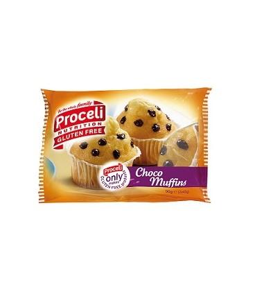 MUFFINS CON PEPITAS DE CHOCOLATE SIN GLUTEN PROCELI