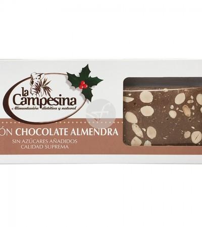 comprar-turron-artesano-chocolate-almendra-sin-gluten-sin-azucar-la-campesina-185-g