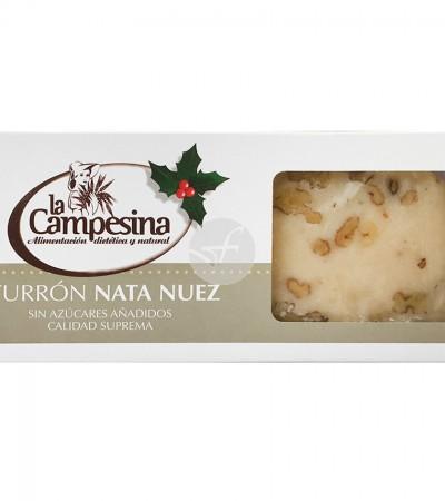 comprar-turron-artesano-nata-nueces-sin-gluten-sin-azucar-la-campesina-185-g
