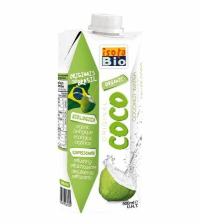 AGUA DE COCO VERDE BIOLOGICA 500ML BRICK ISOLA BIO