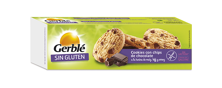 COOKIES DE CHOCOLATE SIN GLUTEN GERBLE