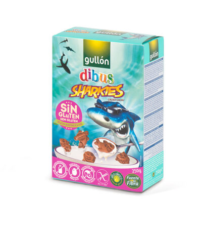 GALLETAS DIBUS SHARKIES CACAO SIN GLUTEN GULLON