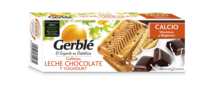 Galletas Leche Chocolate y Yogur Gerblé