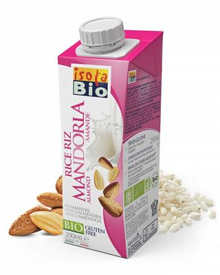LECHE ARROZ ALMENDRA BIO 250ML ISOLA BIO