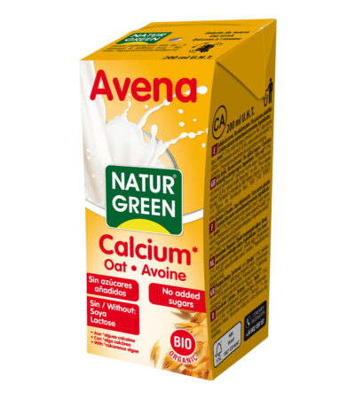 LECHE AVENA CALCIO BIO 200ML NATURGREEN