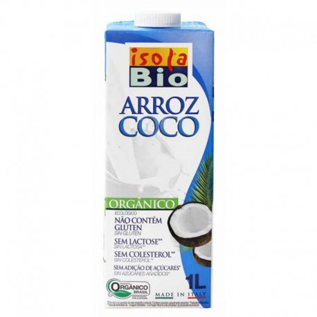 LECHE DE ARROZ Y COCO BIOLOGICA 1L ISOLA BIO