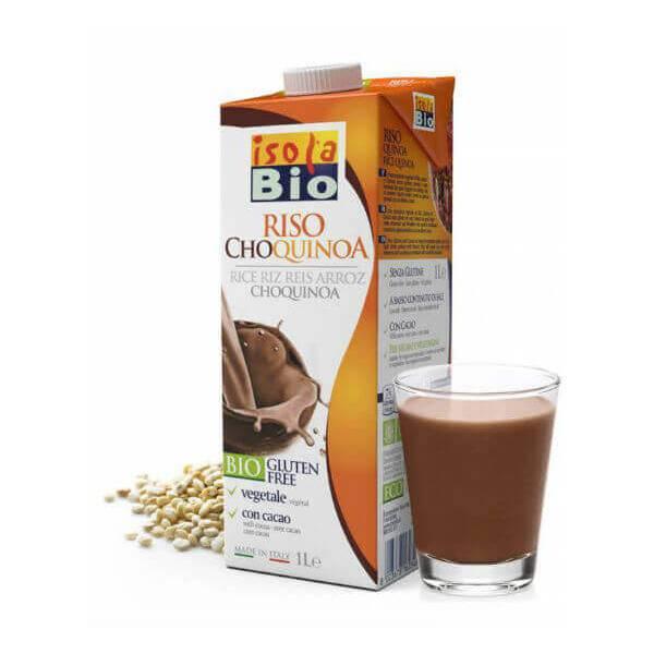 Leche Arroz Quinoa y Cacao 1L Isola Bio