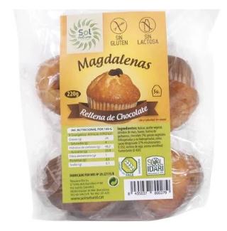 MAGDALENAS RELLENAS DE CHOCOLATE SOLNATURAL
