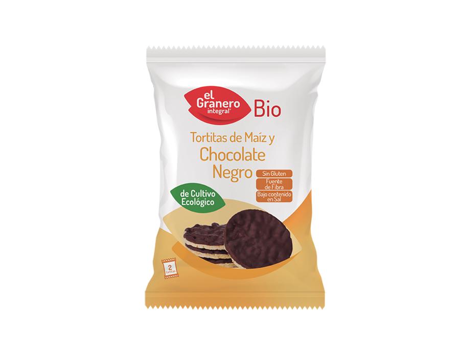 TORTITAS DE MAIZ CON CHOCOLATE NEGRO BIO SIN GLUTEN 33GR GRANERO INTEGRAL